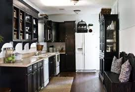 kitchen ideas with white cabinets and white appliancesblack