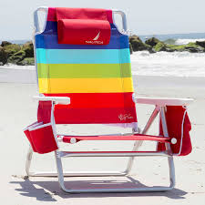 100 Nautica Folding Chairs Beach Chair With Cooler Cup Holder Rainbow Color 5