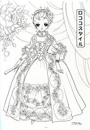 Japanese Shoujo Coloring Pages Sketch Page