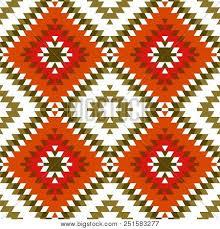 Seamless Pattern Turkish Carpet Yellow Beige Orange Khaki Brown Patchwork Mosaic Oriental Kilim Rug