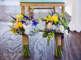 Yellow Blue Purple White Wildflower Wedding Bouquet Destination Park City Waldorf Astoria Calie Rose Calierose