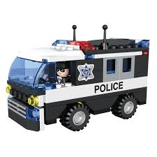 COGO Police Car Vehicle Truck Toy With Policeman Dolls Cruiser ...