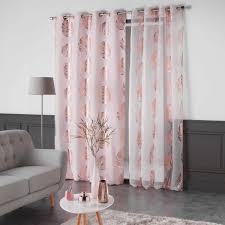 vorhang 140 x 260 cm palmette rosa kupfer