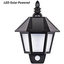 outdoor solar powered led black wall mounted garden coach lantern