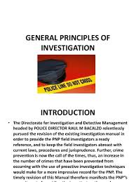 Ecf Help Desk Sdny by General Principles Of Investigation Crime Scene Witness