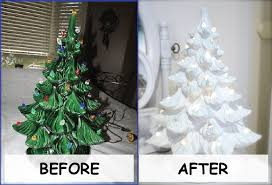 Updating An Old Ceramic Christmas Tree