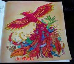 Kerby Rosanes Animorphia Phoenix By Joanne Watts ColouringColoring BookAdult