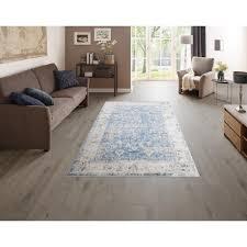 delavita teppich hanako rechteckig 6 mm höhe druckteppich mit bordüre wohnzimmer