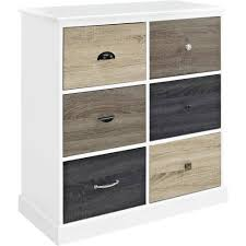 White Storage Cabinets With Drawers by Ameriwood Home Mercer 6 Door Storage Cabinet With Multicolored