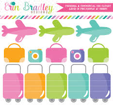 Airplane Travel Clipart Erin Bradley Ink Obsession Designs
