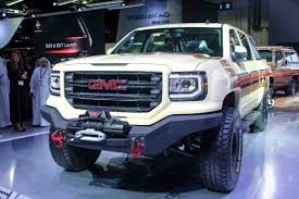 GMC Sierra Desert Fox Concept Debuts At DIMS, Tailor Made For The ... 2019 Gmc Sierra Concept Pickup Truck Canada Youtube 1955 Luniverselle Gm 3500 Hd Denali 2018 Motor Trend Of The Year Ny Auto Show Vw And Steal Headlines Gearjunkie All Terrain Future Concepts Chicago Preview Xt Hybrid Carscoops Bangshiftcom A Spectre Of The Past This 1990 Could Be 2500 Mountain Can Go Anywhere On Davis Buick 20 Spied With Luxurylevel Upgrades Colors Price Car Truckon Offroad After Pavement Ends