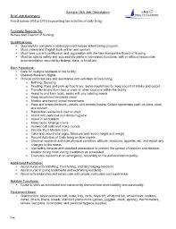 Certified Nursing Assistant Job Resume