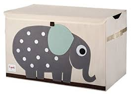 amazon com 3 sprouts toy chest elephant grey baby