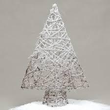 Snowy Ombre Twig Tabletop Tree