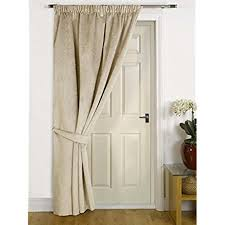 Thermal Lined Curtains Ireland by Single Thermal Door Curtain Amazon Co Uk
