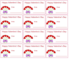 Multiple Printable Happy Valentine Day Tags