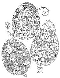 Free Printable Floral Easter Egg Adult Coloring Page Download It In PDF Format At