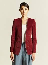 kolor kolor womens corduroy jacket in purple lyst