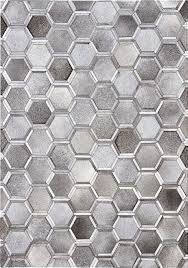 Madisons Inc Madisons 3D Hexagon Pattern Cowhide Patchwork