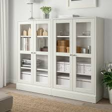 havsta storage combination w glass doors white shop ikea