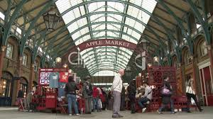 London Covent Garden Market Totale Royalty free video and