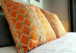 Charming Orange Decorative Pillows Orange And Cream Throw Pillow