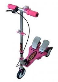 Twin Tail Pedal Scooter For Kids