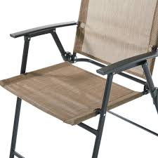 Stack Sling Patio Chair Turquoise by Mainstays Pleasant Grove Sling Folding Chair Set Of 2 Walmart Com