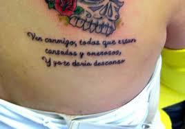 Spanish Bible Verse Tattoo
