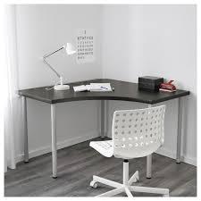 linnmon corner table top black brown ikea