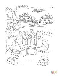 Christmas Sleigh With Gift Boxes