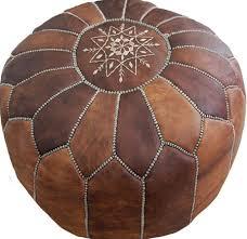 pouf marocain en cuir vente pouf en cuir naturel