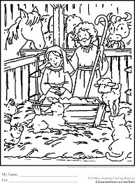 Cute Christmas Coloring Pages Nativity