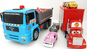 100 Dump Trucks Videos Construction Disney Pixar Cars Mack Truck Hauler Disney