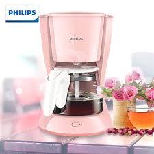 Pink Coffee Maker Machine Home Smart Technology Drip Boiled Tea Mini