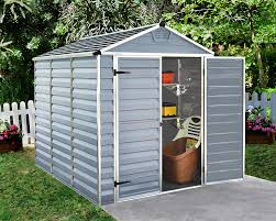 6x5 Shed Double Door by Palram Skylight Shed 6x8ft Durable Storage Grey Amazon Co Uk