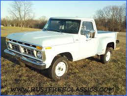 1977 F150 Ford 4x4 Short Bed Step Side300 Six 4 Speed Light Blue