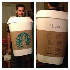 Starbucks Cup Costume Used Foam Core Poster Board And Hand Painted The Logo