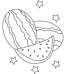 Download Watermelon Coloring Page Stock Illustration
