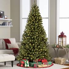 Fiber Optic Led Christmas Tree 7ft by Holiday Time Pre Lit 7 5 U0027 Linden Fir Artificial Christmas Tree