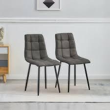 2 pcs dunkelgrau stühle stuhl essstühle esszimmer küche