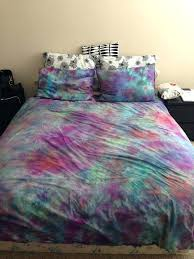 bedroom blue tie dye duvet cover comforter tie dye bedding sets