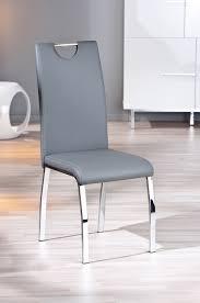 chaises de salle à manger design chaise design de salle à manger coloris gris lot de 2 ushuaya