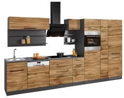 held möbel küchenzeile tulsa mit e geräten breite 360 cm schwarze metallgriffe hochwertige mdf fronten