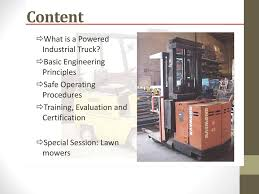 100 Powered Industrial Truck Forklift Training Ppt Download