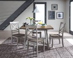 Furniture Awesome Dining Room Butterfly Leaf Gray Table And Chairs Pallet Medium Brown Wood Plastic