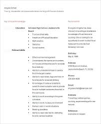 High School Resume Sample For College Student Format