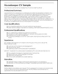 Resume For A Housekeeper Colbro Co Rh Assistant Head Examples Housekeeping Manager