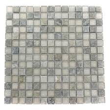 Home Depot Wall Tile Adhesive by Splashback Tile Tectonic Squares Green Quartz Slate And White 12