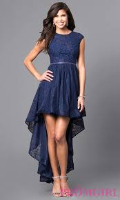 cheap high low short lace prom dress promgirl